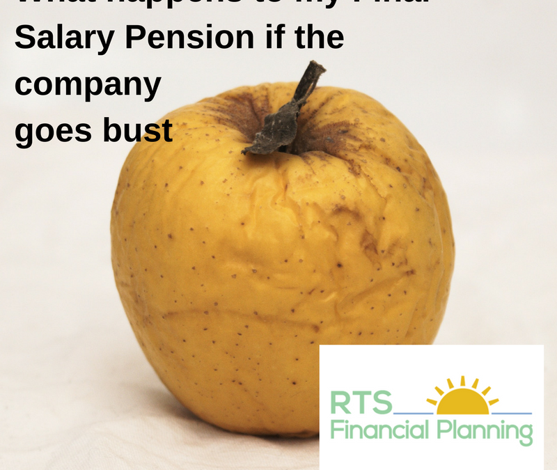 An image of a rotten apple depicting what happens to my final salary pension if the company goes bust