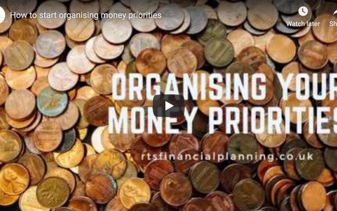 Organising money priorities