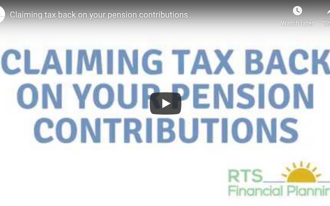 Claiming tax back on your pension contributions